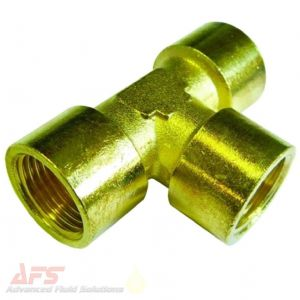 1 Inch BSP Female Equal Brass Tee FxFxF